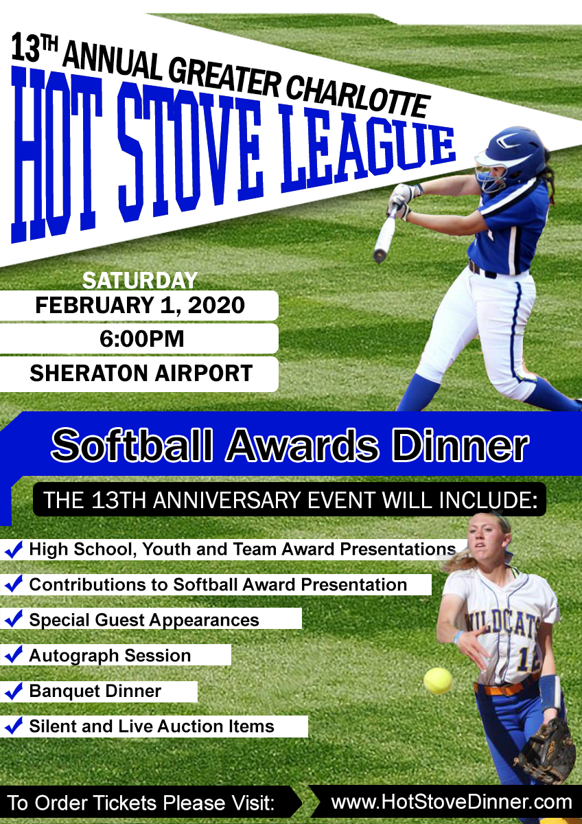 South Charlotte Sports 2020 Hot Stove League Softball Award Nominations Form Event Registration